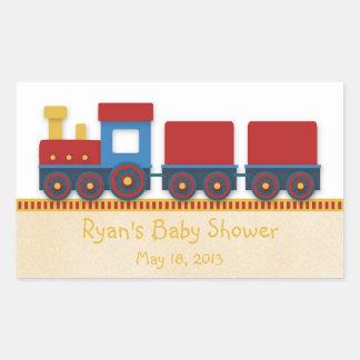 De Douche van de Jongen van het baby: Gele, Rode & Rechthoekvormige Stickers