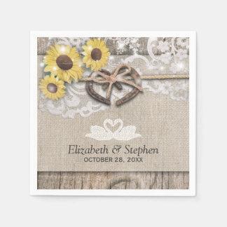 De Douche van het Huwelijk van de Zonnebloemen van Papieren Servet
