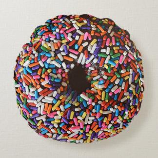 De doughnut bestrooit het Hoofdkussen van het Rond Kussen