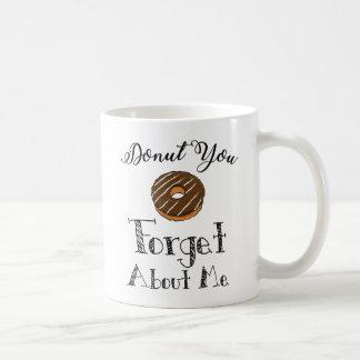 """De """"doughnut u vergeet over me"""" mok - chocolade"""