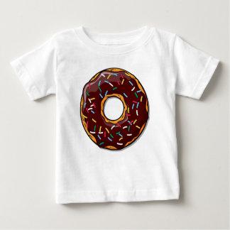 De Doughnut van de chocolade met bestrooit Baby T Shirts