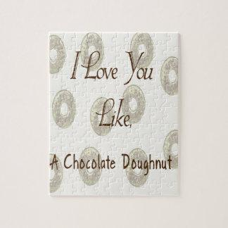 De Doughnut van de chocolade Puzzel
