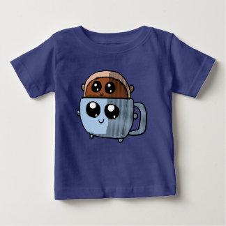De doughnut van Kawaii in een de kopoverhemd van Baby T Shirts