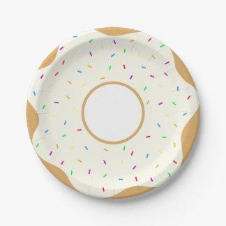 De Doughnut van Sprinkly Papieren Bordje