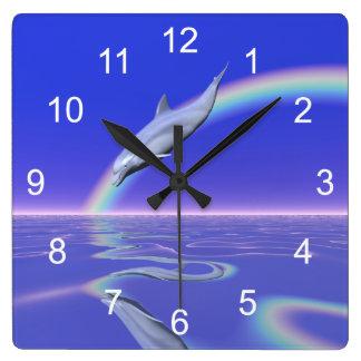 De Download van de dolfijn Vierkante Klok