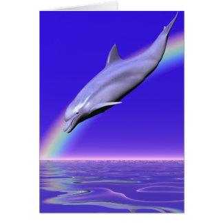 De Download van de dolfijn Wenskaart