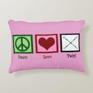 De Draai van de Knuppel van de Liefde van de vrede Decoratief Kussen