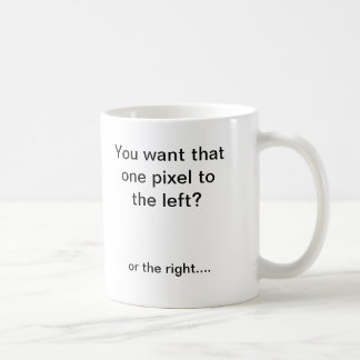 De draaier van het pixel koffiemok
