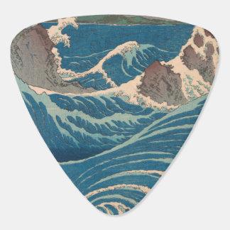 De Draaikolk van Hiroshige Naruto van Utagawa Gitaar Plectrum