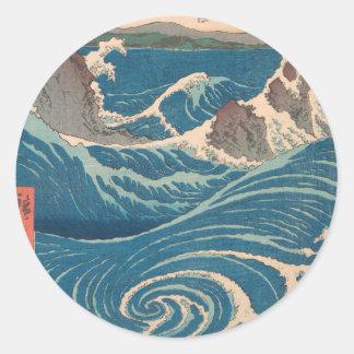 De Draaikolk van Naruto Ronde Sticker