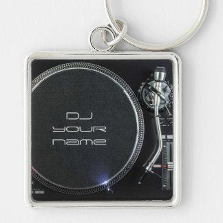 De draaischijf van DJ keychain Sleutelhanger