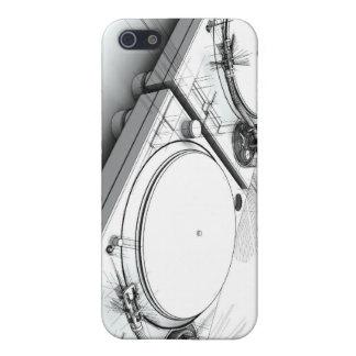 De Draaischijven van DJ schetsen 3D Illustratie iPhone 5 Covers