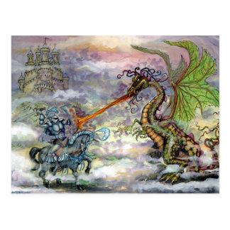 De Draak van de ridder n Briefkaart