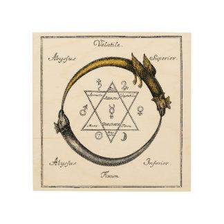 De Draken Ouroboros van Homerus Hout Print