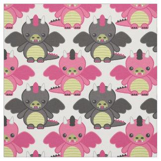 De Draken van het baby - Roze & Zwart Patroon Stof