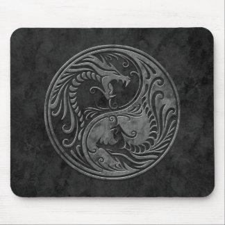 De Draken van Yin Yang van de steen Muismat