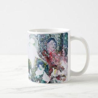 De draken vatten het vloeibare schilderen samen koffiemok