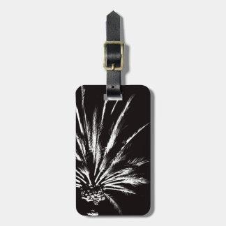 De dramatische Zwart-witte Sjabloon van de Palm Kofferlabel