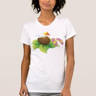 De Drank en het Teenslipper van de Kokosnoot van T Shirt