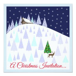 De Dranken van Kerstmis en Uitnodiging Canapes