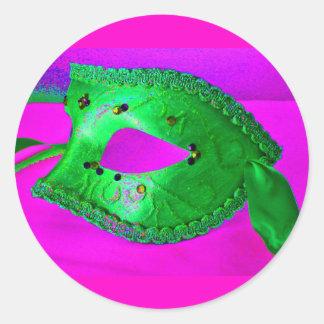 De Dreun van de maskerade Ronde Stickers