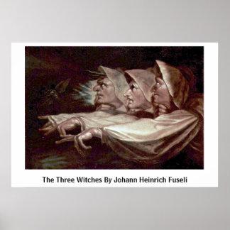 De drie Heksen door Johann Heinrich Fuseli Poster