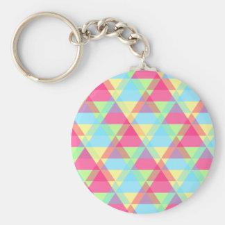 De driehoeken van de pastelkleur sleutelhanger