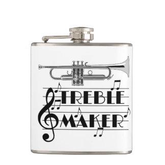De Drievoudige Maker van de trompetter Heupfles