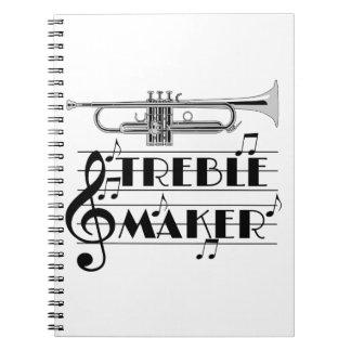 De Drievoudige Maker van de trompetter Notitieboek