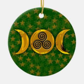 De drievoudige Spiraalvormige Gouden Drievoudige Rond Keramisch Ornament