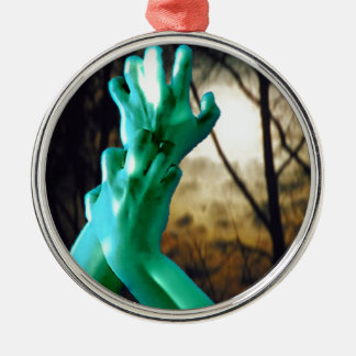 De Drievuldigheid van de heks - begint Zilverkleurig Rond Ornament