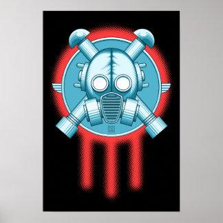 De Drievuldigheid van Gasmask van het art deco Poster