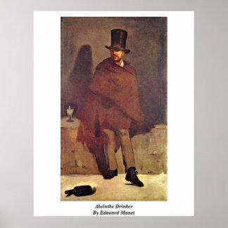 De Drinker van de alsem door Edouard Manet Poster