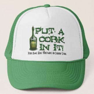 De Drinker van de wijn - zet CORK daarin! Trucker Pet