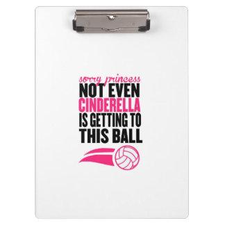 De droevige Bal ` van het Volleyball van de Klembord