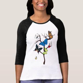 De droge Dames van de Boom en van Vlinders 3/4 T Shirt
