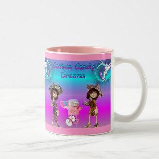 De Dromen van de gesponnen suiker Tweekleurige Koffiemok