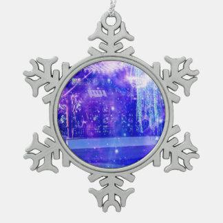 De Dromen van de Tuin van de sereniteit Tin Sneeuwvlok Ornament