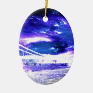 De Dromen van violetkleurig Boedapest van de Keramisch Ovaal Ornament
