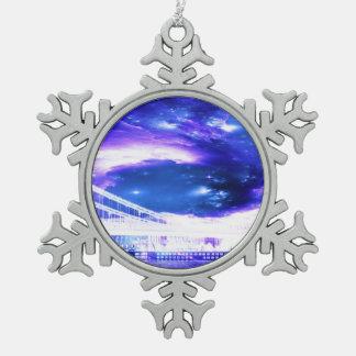 De Dromen van violetkleurig Boedapest van de Tin Sneeuwvlok Ornament