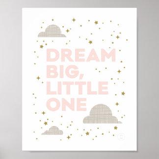 De droom Grote, Kleine de Druk van de Kunst bloost Poster