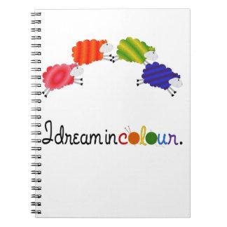 De droom in het Breien van de Kleur of haakt Ringband Notitieboek