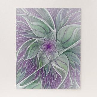 De Droom van de bloem, vat Paars Groen Fractal Puzzel