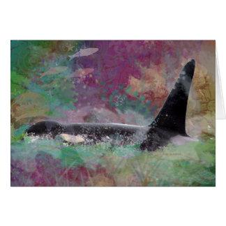 De Droom van de Fantasie van de Walvis van de orka Kaart
