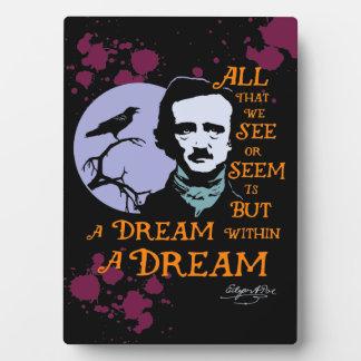 De Droom van Edgar Allan Poe binnen een Citaat van Fotoplaat