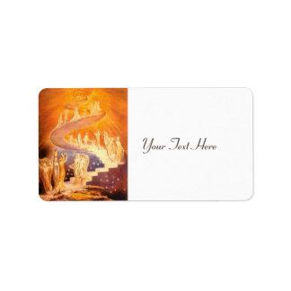 De Droom van Jacob door William Blake Addressticker