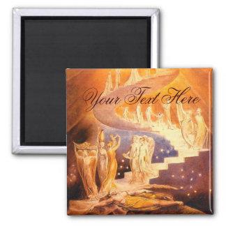 De Droom van Jacob door William Blake Vierkante Magneet