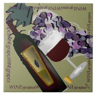 De Druiven M van de Fles n van de wijn Keramisch Tegeltje