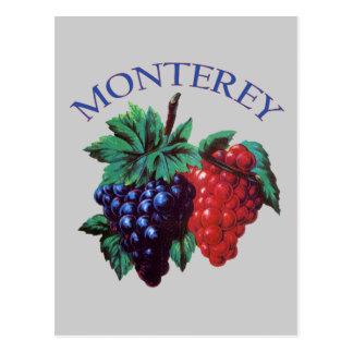 De Druiven van Californië van Monterey Briefkaart