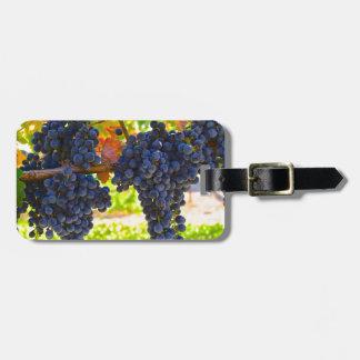 De druiven van de wijn kofferlabels